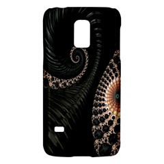 Fractal Black Pearl Abstract Art Galaxy S5 Mini by Nexatart