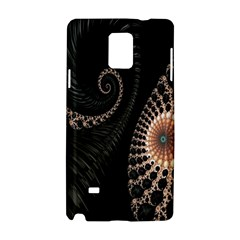 Fractal Black Pearl Abstract Art Samsung Galaxy Note 4 Hardshell Case