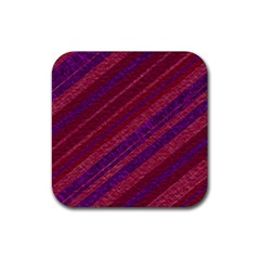Stripes Course Texture Background Rubber Coaster (square)  by Nexatart