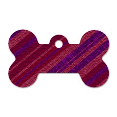 Stripes Course Texture Background Dog Tag Bone (two Sides) by Nexatart