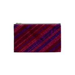 Stripes Course Texture Background Cosmetic Bag (small)  by Nexatart