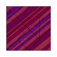 Stripes Course Texture Background Acrylic Tangram Puzzle (6  X 6 )