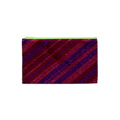 Stripes Course Texture Background Cosmetic Bag (xs) by Nexatart