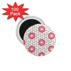 Stamping Pattern Fashion Background 1 75  Magnets (100 Pack)  by Nexatart