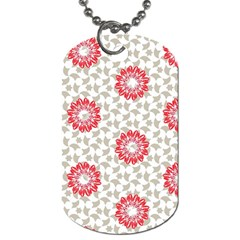 Stamping Pattern Fashion Background Dog Tag (two Sides) by Nexatart