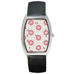 Stamping Pattern Fashion Background Barrel Style Metal Watch by Nexatart