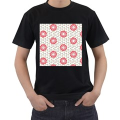 Stamping Pattern Fashion Background Men s T Shirt (black) (two Sided)