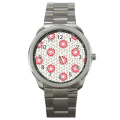 Stamping Pattern Fashion Background Sport Metal Watch by Nexatart