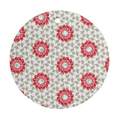 Stamping Pattern Fashion Background Round Ornament (two Sides) by Nexatart