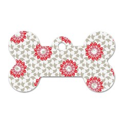 Stamping Pattern Fashion Background Dog Tag Bone (two Sides) by Nexatart