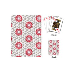 Stamping Pattern Fashion Background Playing Cards (mini)  by Nexatart