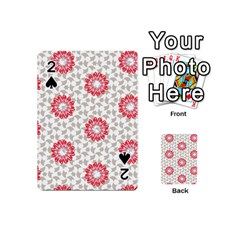 Stamping Pattern Fashion Background Playing Cards 54 (mini)  by Nexatart