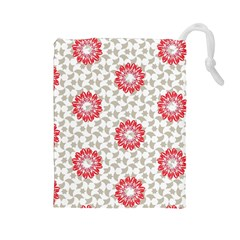 Stamping Pattern Fashion Background Drawstring Pouches (large)