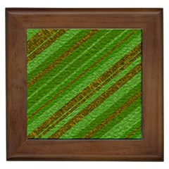 Stripes Course Texture Background Framed Tiles by Nexatart