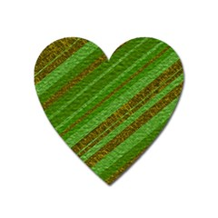 Stripes Course Texture Background Heart Magnet by Nexatart