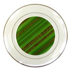 Stripes Course Texture Background Porcelain Plates by Nexatart