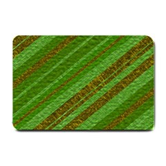 Stripes Course Texture Background Small Doormat  by Nexatart