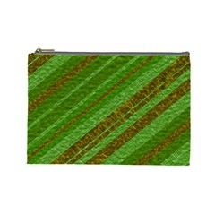 Stripes Course Texture Background Cosmetic Bag (large)  by Nexatart