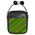 Stripes Course Texture Background Girls Sling Bags Front