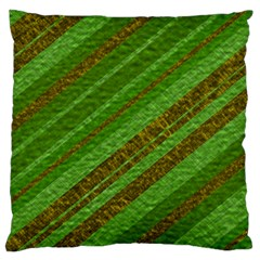 Stripes Course Texture Background Large Cushion Case (one Side)