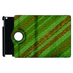 Stripes Course Texture Background Apple Ipad 2 Flip 360 Case by Nexatart