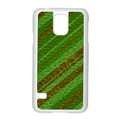 Stripes Course Texture Background Samsung Galaxy S5 Case (white)