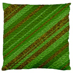 Stripes Course Texture Background Standard Flano Cushion Case (one Side) by Nexatart