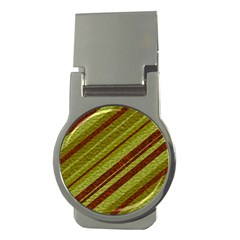 Stripes Course Texture Background Money Clips (round)  by Nexatart