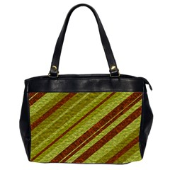Stripes Course Texture Background Office Handbags (2 Sides)  by Nexatart