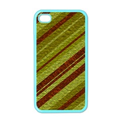 Stripes Course Texture Background Apple Iphone 4 Case (color) by Nexatart