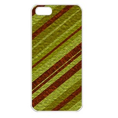 Stripes Course Texture Background Apple Iphone 5 Seamless Case (white) by Nexatart