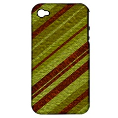 Stripes Course Texture Background Apple Iphone 4/4s Hardshell Case (pc+silicone) by Nexatart