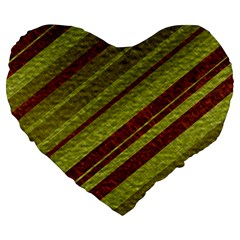 Stripes Course Texture Background Large 19  Premium Flano Heart Shape Cushions