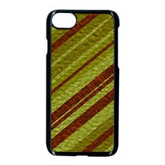 Stripes Course Texture Background Apple Iphone 7 Seamless Case (black) by Nexatart