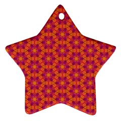 Pattern Abstract Floral Bright Ornament (star)
