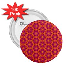 Pattern Abstract Floral Bright 2.25  Buttons (100 pack)