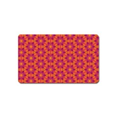 Pattern Abstract Floral Bright Magnet (name Card) by Nexatart