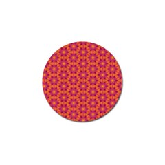 Pattern Abstract Floral Bright Golf Ball Marker by Nexatart