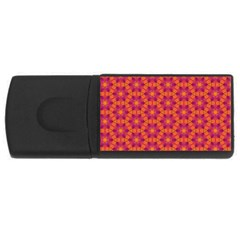 Pattern Abstract Floral Bright Usb Flash Drive Rectangular (4 Gb) by Nexatart
