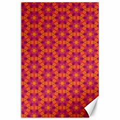Pattern Abstract Floral Bright Canvas 24  X 36  by Nexatart