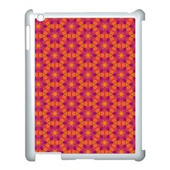 Pattern Abstract Floral Bright Apple Ipad 3/4 Case (white) by Nexatart