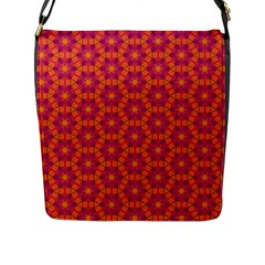 Pattern Abstract Floral Bright Flap Messenger Bag (l)  by Nexatart