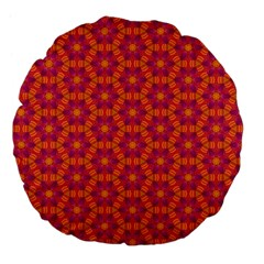 Pattern Abstract Floral Bright Large 18  Premium Flano Round Cushions by Nexatart