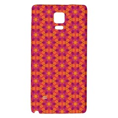 Pattern Abstract Floral Bright Galaxy Note 4 Back Case