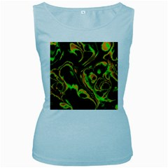 Glowing Fractal A Women s Baby Blue Tank Top by Fractalworld