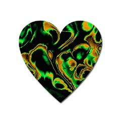 Glowing Fractal A Heart Magnet by Fractalworld
