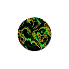 Glowing Fractal A Golf Ball Marker (10 Pack) by Fractalworld