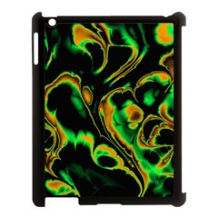 Glowing Fractal A Apple Ipad 3/4 Case (black) by Fractalworld