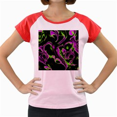 Glowing Fractal B Women s Cap Sleeve T Shirt by Fractalworld