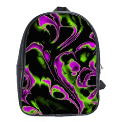 Glowing Fractal B School Bags(large)  by Fractalworld